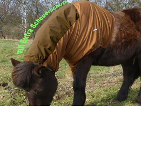 "EINHORN mane/neck cover ""protect"", chestnut"